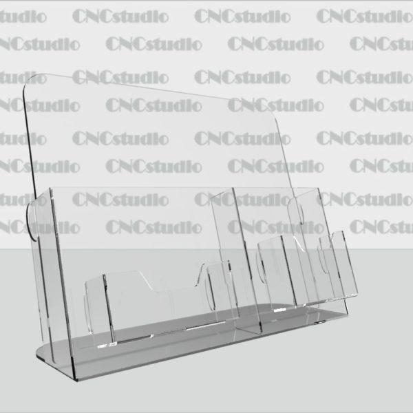 В-1 Акрил 3мм, 1,8 мм А5+Еврофлаер вертикальный, визитница 90х50 и карман для календаря 75х55