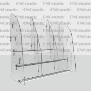 В-2 Акрил 3мм, буклетница 3х ярусная формат Еврофлаер вертикальный