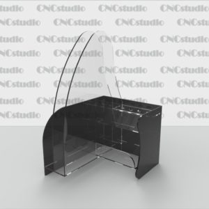 В-3 Акрил 3мм+цветной 3 мм, А4+подставка для ручек+кубарик для бумаги 110х110мм
