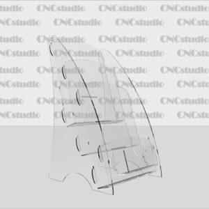 В-6 Акрил 1,8 мм, три руса А5 вертикальный+визитка