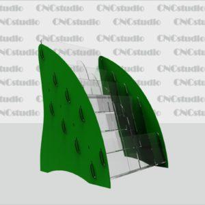 В-7 Акрил 1,8мм+цветной 3 мм, формат Еврофлаер вертикальный  на 8 секций