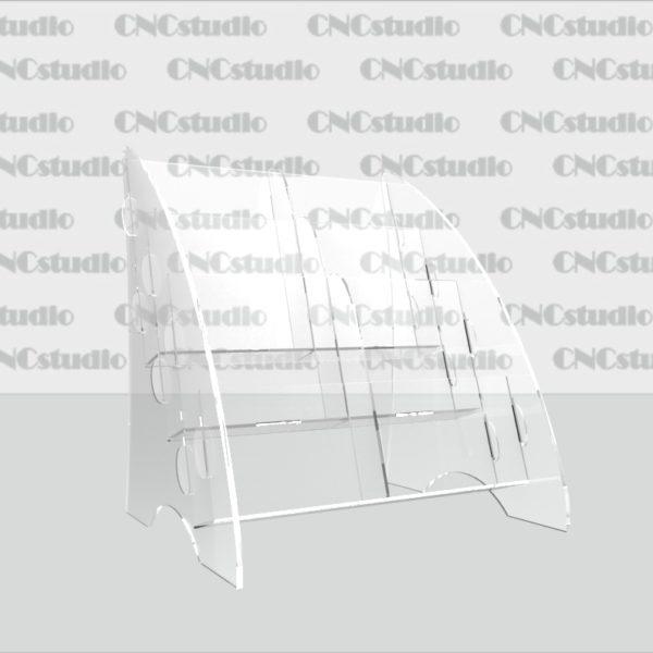 В-8 Акрил 1,8 мм+ 3 мм прозрачный, А6 вертикальный 6 ячеек