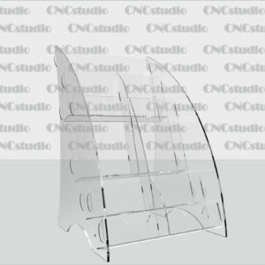 В-9 Акрил 1,8 мм+3мм прозрачный, 2 визитки, 4 Еврофлаера вертикального формата, А5 горизонтальный