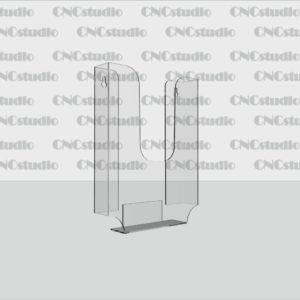К-10 Карман А5 вертикальный обьемный, акрил 1,8 мм