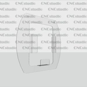 К-3 Карман обьемный А4 навесной, акрил 1,8 мм