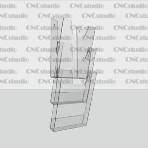 К-6 Карманы обьемные А4 3х ярусные, акрил 3 мм