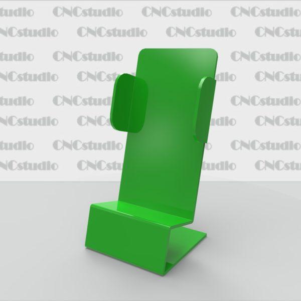 М-2.1 Подставка под мобильный телефон акрил 3 мм. Габариты телефона 60х110х28