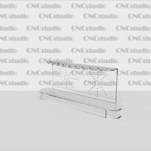 Р-4 Подставка подручки 1,8 мм габариты 248х104х50. Диаметр отверстий 11 мм