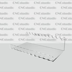 Р-5 Подставка под ручки акрил 1,8 мм габариты 185х52х100 диаметр ручки 12 мм