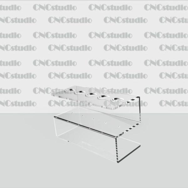 Р-6 Подставки под ручки акрил 1,8 мм габариты 100х60х45мм. Диаметр ручки 14 мм