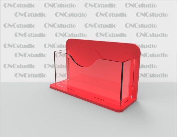 С-13 Визитница. Материал акрил 1,8 мм+3 мм цветной. Габариты под визитку 90х50 мм.