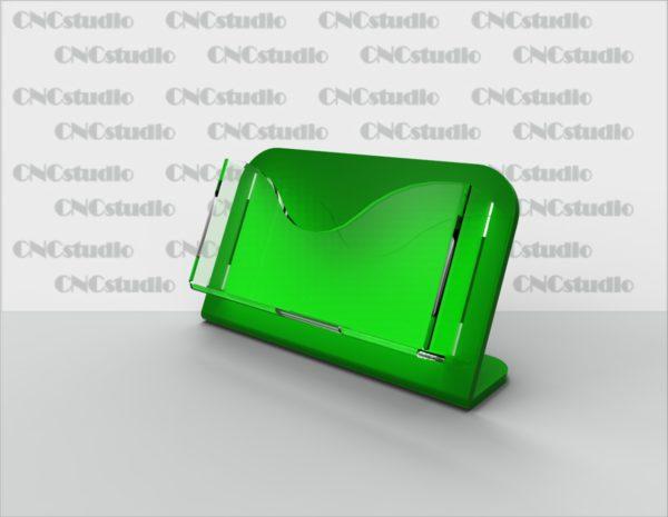 С-17 Визитница. Материал акрил 3 мм+3 мм цветной. Габариты визитки 90х50 мм.