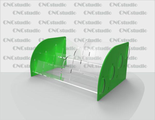 С-7 Визитница на 6 отделений акрил 1,8 мм+ 3 мм цветной