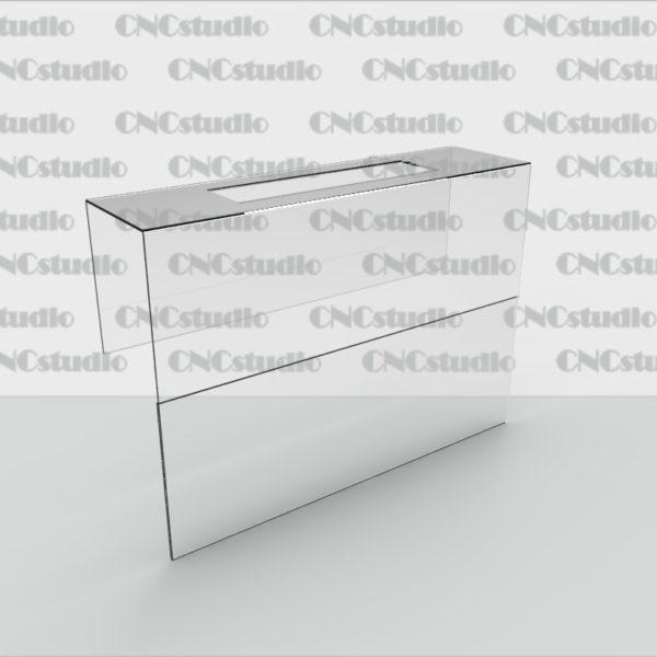 Ц-7 Ценник для вешалки ПЭТ 0,8 мм поле ценника 150х105 мм
