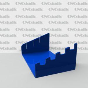 D-6.1  Подставки для столовых приборов акрил 3мм цветной. Габариты 156х67х100 мм