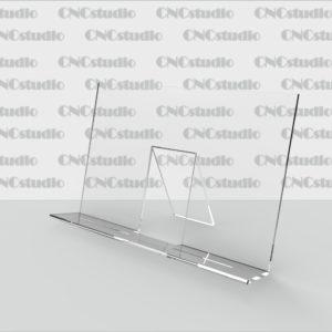D-7 Подставка для столовых приборов акрил 1,8 мм. Габариты 150х100х70