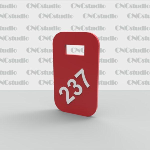 N-1 Номерок акриловый цветной 3мм 40х70.
