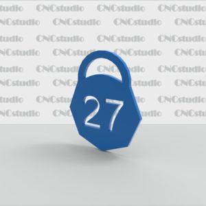 N-3 Номерок акриловый прорезной цветной 3мм 60х74