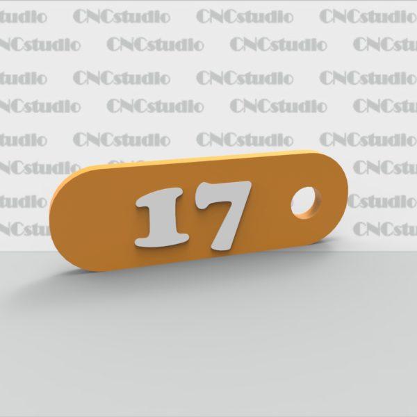 N-5 Номерок акриловый цветной 3мм 60х20