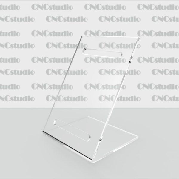 Q-3 Подставка под часы акрил 3 мм. Габариты 80х108х70