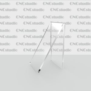 S-1Подставка для обуви акрил 3 мм. Габариты 50х92х57