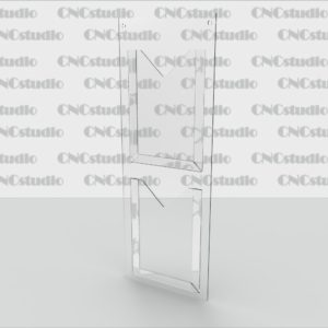 SC-3 Стенд для информации 2 кармана плоских А4 вертикальных. ПЭТ 0,8 мм, акрил 3 мм.
