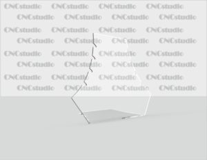 U-12 Подставка под цепочки. Акрил акрил 1,8мм. Габариты 210х165х80