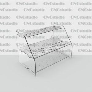 W-2 Для косметических карандашей акрил 1,8 мм. Диаметр отверстия 12мм. Габариты 235х156х136