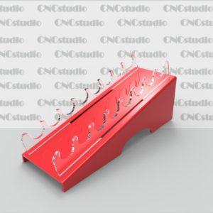 W-30 Подставка для косметики. Материал акрил 3 мм+ 3 ммцветной. Отверстия 20 мм. Габариты модели 83х100х230 мм.