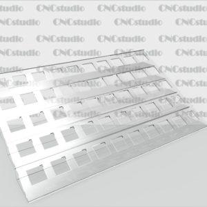 W-4 Подставка для косметики акрил 1,8 мм. Размер ячейки 23,5х23,5 мм. Габариты 360х112х203