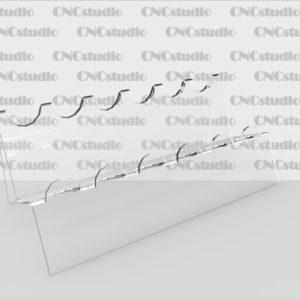 W-5 подставка для косметики акрил 1,8 мм. Диаметр отверстия 22 мм. Габариты 180х69х85