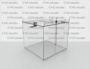 Box-1 Ящик для пожертвования акрил 2 мм. Габариты 200х200х200