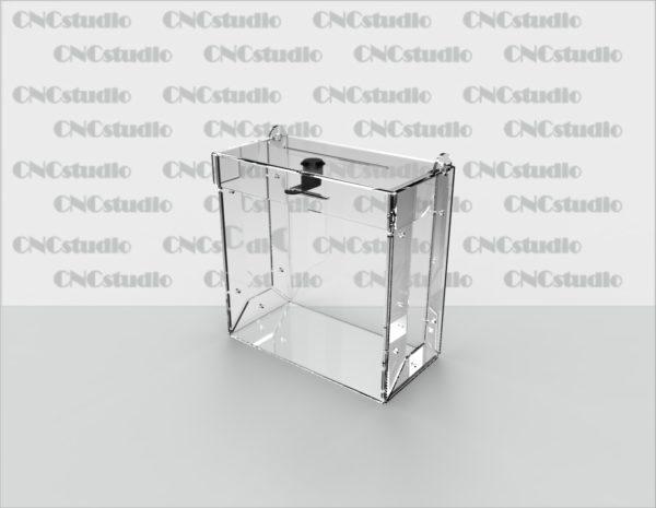 Box-10  Ящик для пожертвования акрил 3 мм. Габариты 200х200х100 мм