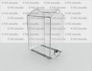 Box-18   Ящик для сбора средств. Материал акрил 3 мм. Габариты 200х300х150 мм.