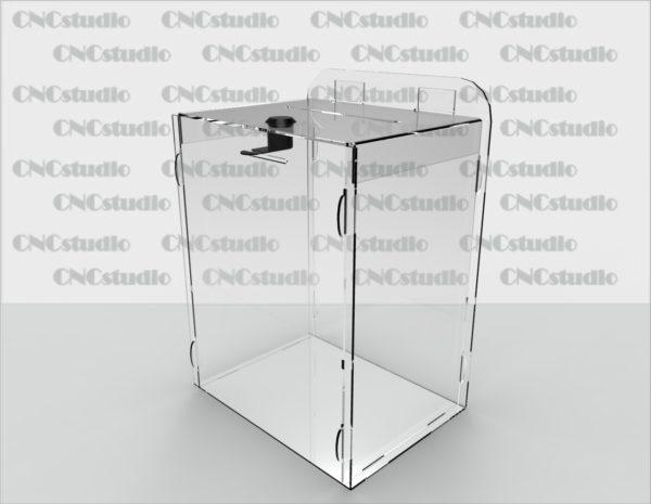 Box-20   Ящик для сбора средств. Материал акрил 1,8 мм. Габариты 200х250х150 мм.