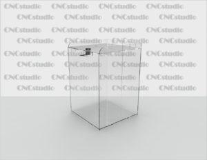 Box-27 Ящик для сбора средств. Материал акрил 1,8 мм. Габариты 200х300х200 мм.