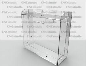 Box-32 Ящик для сбора средств. Материал акрил 1,8 мм. Габариты 200х180х70 мм.