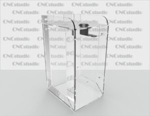 Box-33 Ящик для сбора средств. Материал акрил 1,8 мм. Габариты 100х200х120 мм.
