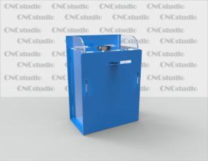 Box-40.1 Ящик для сбора средств. Материал акрил 1,8 мм+ 3 мм цветной. Габариты 100х140х60 мм.
