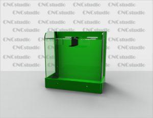 Box-43 Ящик для сбора средств. Материал акрил 1,8 мм + 3 мм цветной. Габариты 156х153х96 мм.