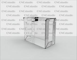 Box-45 Ящик для сбора средств. Материал акрил 3 мм. Габариты 150х200х150 мм.