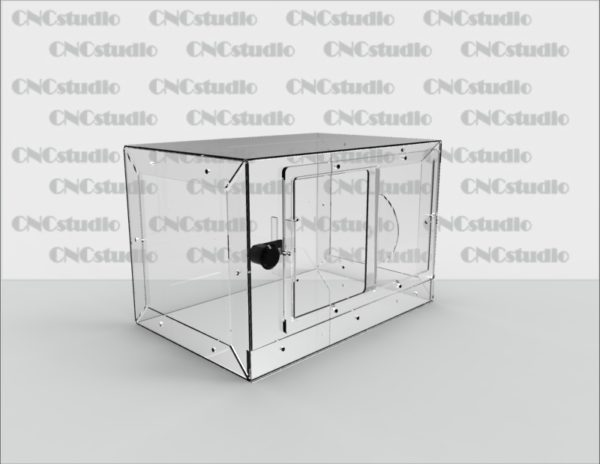 Box-46 Ящик для сбора средств. Материал акрил 1,8 мм. Габариты 300х200х200 мм.