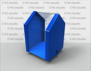 Box-49 Ящик для сбора средств. Материал акрил 3 мм+ 3 мм цветной. Габариты 250х350х250 мм.