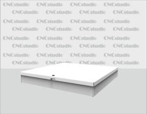 Box-52 Ящик для сбора средств. Материал акрил 3 мм белый. Габариты 700х100х700 мм.