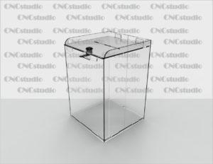 Box-6 Ящик для пожертвования акрил 3 мм. Габариты 200х300х200 мм.