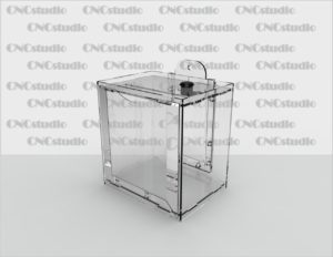 Box-7 Ящик для пожертвования акрил 3 мм. Габариты 160х170х120 мм. Карман 150х150х Пэт 0,8 мм.