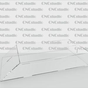 А-6 Контейнер акриловый 1,8 мм. Габариты 156х52х300 мм. Ширина 2х ячеек 75 мм.