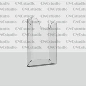 К-4 Карман А5 вертикальный обьемный, акрил 1,8 мм