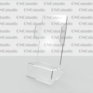 М-2 Подставка под мобильный телефон акрил 1,8 мм. Габариты телефона  60х110х28