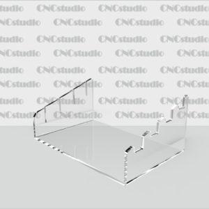 D-6 Подставки для столовых приборов акрил 3 мм. Габариты 156х67х100 мм